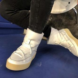Натуральные ботинки/сапоги/луноходы
