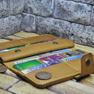 Кожаный кошелек двойного сложения K97-180