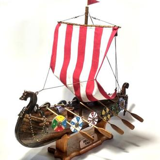 Корабль викингов / Drakkar Viking / Деревянная модель карабля / Модель Драккара Викингов / Подарок