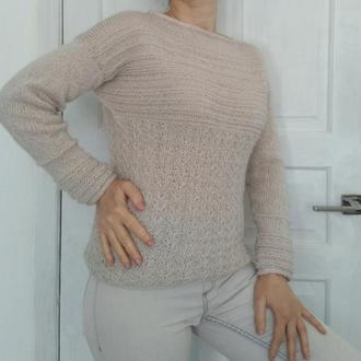 Блестящий пуловер