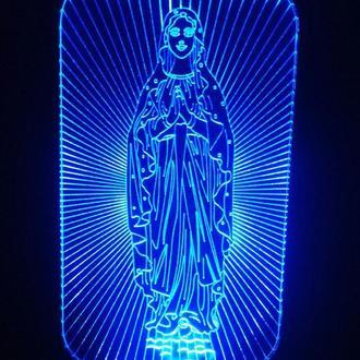 Дева Мария, ночник 3д светильник лампа, подарок маме коллеге на день рождения, новый год