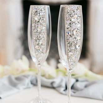 Бокалы на свадьбу Магия страз 2 шт
