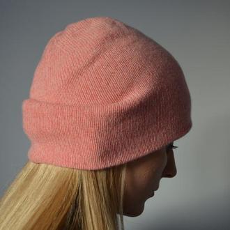 100% кашемир двойная шапка-бини
