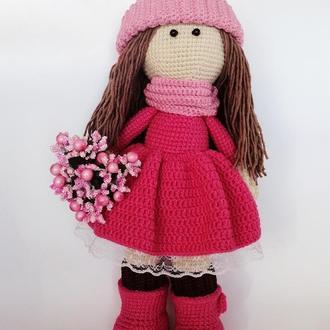 Вязанная кукла. Амигуруми кукла. Кукла крючком