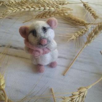 Валяная мышка малышка