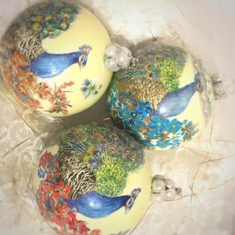Новогодние шары Павлин