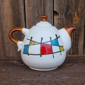 """Чайник Крапля 800 мл., декор """"Галаретка кольорова"""""""