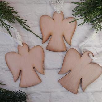 Новогодние елочные игрушки Ангелы на ёлку Рождественский ангел подарок на Новый год