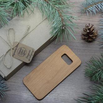 """Лазерне гравіювання на Дерев'яному чохлі """"Вишня"""" для Samsung S8 за індивідуальним дизайном"""