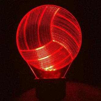 Волейбольный мяч, ночник 3д светильник 3d лампа, подарок волейболисту тренеру на день рождения