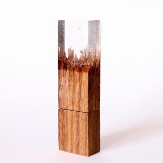 """USB-флэш-накопитель """"Пески Татуина"""", из африканской породы древесины Эбиара и эпоксидной смолы"""