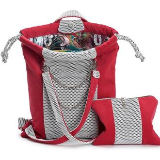 Рюкзак женский красный цвет