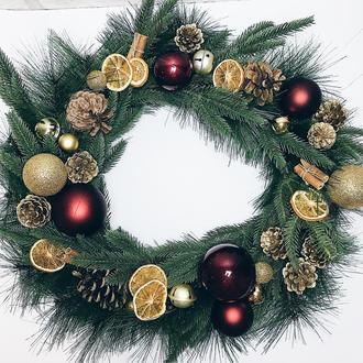 Новогодний венок «Праздничное настроение»