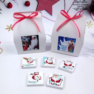 """Мини-шоколадный набор новогодний """". Подарочный набор ко дню Святого Николая или Новый год"""