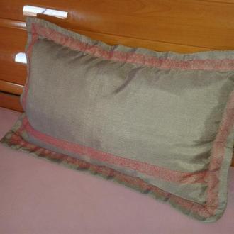 Диванная подушка Ручная работа 50 X 70 Новая Гипюр Кружево