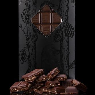 Черный шоколад с кофе и кранчем