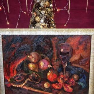 Картина «Гранат» маслом на картоне