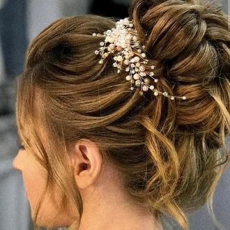 Свадебное украшение для волос, веточка в прическу, украшение в прическу, веточка у волосы