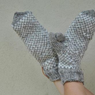 Вязані рукавички из натуральной шерсти