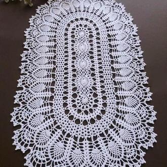 Овальная белая салфетка «Радужная»
