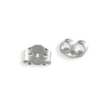 Застібка для пусет срібло 925 заглушка для пуссет серебро 925
