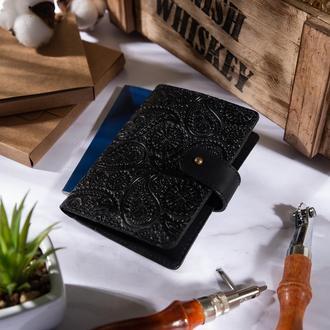 "Кожаное портмоне для паспорта / ID документов HiArt PB-03S/1 Shabby Night ""Buta Art"""