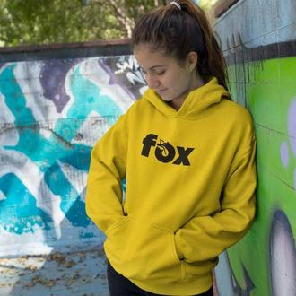 Толстовка, худи с надписью FOX