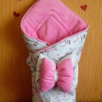 Конверт -одеялко с бантиком