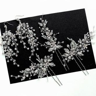 Свадебное украшение для волос, шпилька в прическу,шпильки