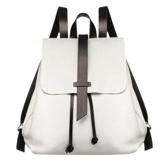 """Женский рюкзак """"Глория"""" белый с чёрными шлейками и подкладом 1_0001[Size]_GLR"""