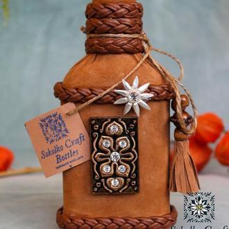 Декорированая подарочная экобутылка (маленькая)