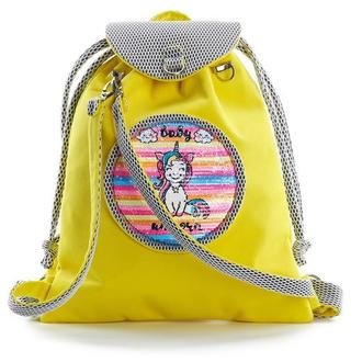 Детский рюкзак желтый  цвет Единорог Смайлик
