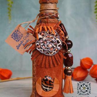 Декорированая подарочная бутылка