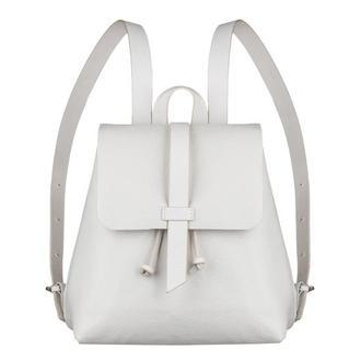 "Женский рюкзак ""Глория"" белый с белыми шлёвками 1_0001[Size]_GLR"
