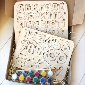 Пазл «маленька Абетка + Цифри + Фарби» Подарунок на День народження дитині
