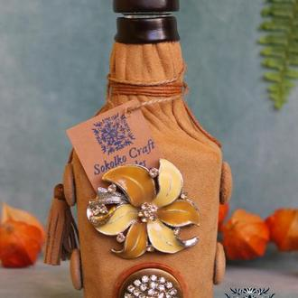 Декорированая подарочная бутылка (маленькая)