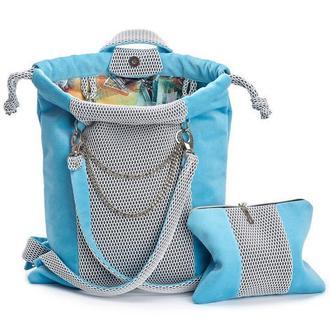 Женский рюкзак, голубой цвет