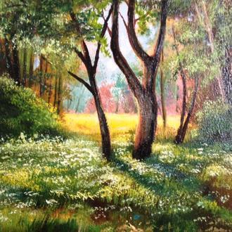 """""""Лісова поляна"""" полотно, олія 45х35 см"""