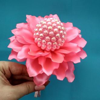 Обруч розовая бусинка