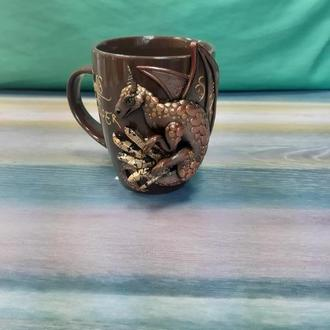 Чашка с драконом