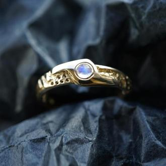 Мужское золотое кольцо 'LUKE' | мужское обручальное кольцо | золотое кольцо 750 пробы