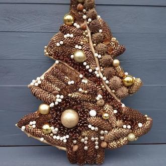Новогодняя декоративная елка на стену