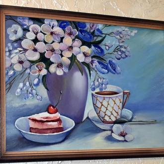 Вкусный натюрморт, живопись,размер 30х40см