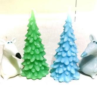 Подарочный набор свечей Елочка + крыса или варежки