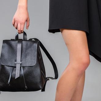 """Женский рюкзак """"Глория"""" Чёрный глянцевый 1_0001[Size]_GLR"""