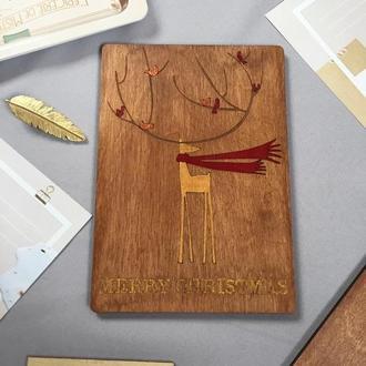 Открытка Картина из дерева