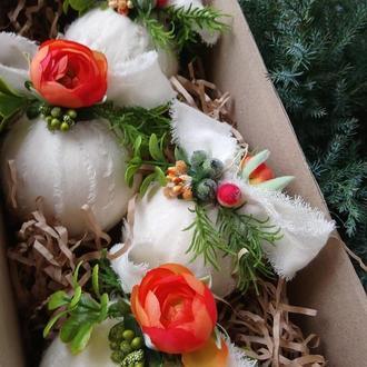 Іграшки на ялинку Подарочный набор Игрушки на елку Новогодний декор Подарок на Новый год Шары