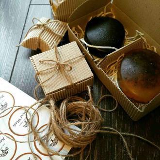 Подарочный набор натурального мыла в коробочке