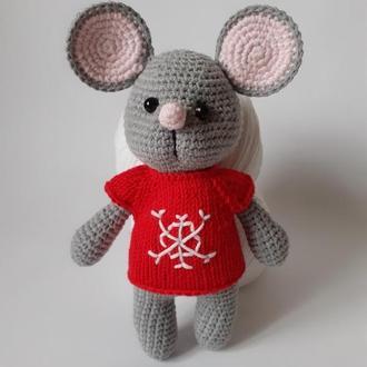 Мышонок, вязаная мышка