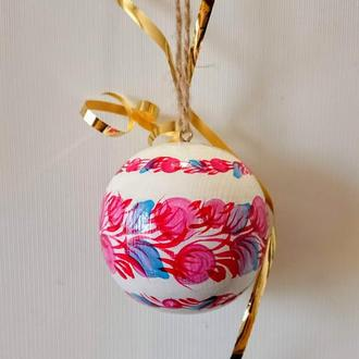 Новорічна іграшка Новорічна іграшка, дерев'яний ялинкова куля